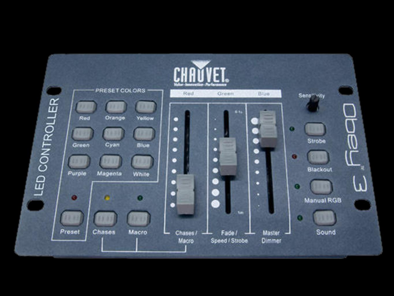 chauvet obey 3 dmx controller sonic bass. Black Bedroom Furniture Sets. Home Design Ideas